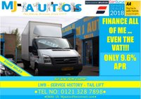 2010 FORD TRANSIT  LUTON 2.4 350 EXTENDED FRAME, LWB, WITH TAIL LIFT £8995.00