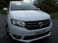 2014 DACIA SANDERO 0.9 LAUREATE TCE 5d 90 BHP ** £30 ROAD TAX , ONLY DONE 40K ** £5495.00