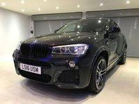 "USED 2016 16 BMW X4 3.0 XDRIVE30D M SPORT 4d AUTO 255 BHP 20"" POLISHED ALLOY WHEELS + SATELLITE NAVIGATION + HARMAN KARDON SOUND SYSTEM + REVERSING CAMERA"