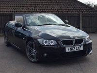USED 2012 12 BMW 3 SERIES 2.0 320D M SPORT CONVERTIBLE 2d AUTO 181 BHP