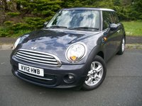 USED 2012 12 MINI HATCH COOPER 1.6 COOPER 3d 122 BHP JUST Two Former Keepers, Locally Owned, ONLY 29,000 Miles From New with Full Service History. Eye Catching Limited Edition Highclass Grey Metallic!!!