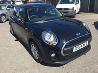 2014 MINI HATCH ONE 1.2 ONE 3 DOOR 101 BHP NEW SHAPE IN SOLID BLACK WITH ONLY 45,500 MILES. £7799.00