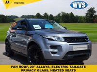"USED 2013 63 LAND ROVER RANGE ROVER EVOQUE 2.2 SD4 DYNAMIC 5d AUTO 190 BHP Another stunning Range Rover Evoque, this one is a 2013 SD4 Dynamic auto in grey metallic with 20"" black gloss alloys, electric tailgate and Pan roof. Complete with records for 3 Land Rover services and 2 keys."