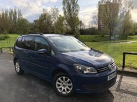 2011 VOLKSWAGEN TOURAN 1.6 S TDI BLUEMOTION TECHNOLOGY 5d 103 BHP £SOLD