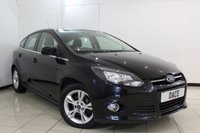 USED 2012 62 FORD FOCUS 1.0 ZETEC 5DR 99 BHP SERVICE HISTORY + BLUETOOTH + PARKING SENSOR + MULTI FUNCTION WHEEL + AUXILIARY PORT + AIR CONDITIONING + 16 INCH ALLOY WHEELS