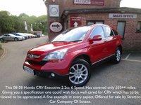 2008 HONDA CR-V 2.2 I-CTDI EX 5d 139 BHP £7695.00