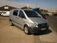 2013 MERCEDES-BENZ VITO 2.1CDi 113  DUALINER  AUTO 136 BHP with new wolf race alloys and tyres Chrome Side Steps and Roof Rails  £11995.00