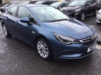 USED 2016 16 VAUXHALL ASTRA 1.6 DESIGN CDTI 5d 108 BHP OUR  PRICE INCLUDES A 6 MONTH AA WARRANTY DEALER CARE EXTENDED GUARANTEE, 1 YEARS MOT AND A OIL & FILTERS SERVICE. 6 MONTHS FREE BREAKDOWN COVER.   CALL US NOW FOR MORE INFORMATION OR TO BOOK A TEST DRIVE ON 01315387070 !! !! LIKE AND SHARE OUR FACEBOOK PAGE !!