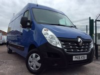 2016 RENAULT MASTER LWB 2.3 LM35 BUSINESS PLUS ENERGY DCI S/R 135 BHP 1 OWNER FSH AIR CON SAT NAV £10700.00