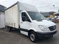 USED 2013 63 MERCEDES-BENZ SPRINTER 313 CDI LUTON CURTAINSIDER LWB 2.1 130 BHP 2013 (63) Plate White