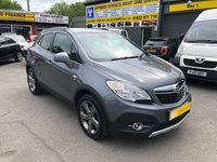 USED 2014 14 VAUXHALL MOKKA 1.7 SE CDTI S/S 5d 128 BHP IN METALLIC GREY WITH A FULL SERVICE HISTORY. APPROVED CARS ARE PLEASED TO OFFER THIS VAUXHALL MOKKA 1.7 SE CDTI S/S 5 DOOR 128 BHP IN METALLIC GREY WITH A FULL SERVICE HISTORY WITH 4 FULL MAIN DEALER SERVICE STAMPS AND A GREAT SPEC INCLUDING A FULL LEATHER INTERIOR,6 SPEED GEARBOX,AIR/CON,HEATED SEATS,FRONT AND REAR PARKING SENSORS,ALLOYS,BLUETOOTH CD AND MUCH MORE AND ALL OUR CARS ARE PRICED TO SELL AND CHECKED DAILEY..