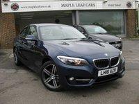 2016 BMW 2 SERIES 1.5 218I SPORT 2d AUTO 134 BHP