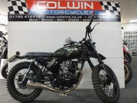USED 2017 17 HANWAY HS125 SCRAMBLER 125cc HS 125 SCRAMBLER E3 11 BHP ONE OWNER, ONLY 1,000 MILES!!!