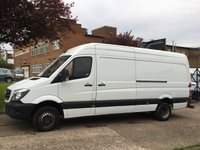 USED 2013 63 MERCEDES-BENZ SPRINTER 2.1 513CDI LWB TWIN WHEEL. FACELIFT. BLUE EFFICIENCY. 5.0T LOW FINANCE. PX WELCOME. RARE VAN.