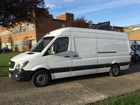USED 2014 64 MERCEDES-BENZ SPRINTER 2.1 313CDI LWB HIGH ROOF 130BHP NEW SHAPE. 1 OWNER. FSH. NO DEPOSIT FINANCE. PX WELCOME.
