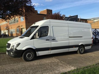 2014 MERCEDES-BENZ SPRINTER 2.1 313CDI LWB HIGH ROOF 130BHP NEW SHAPE. 1 OWNER. FSH. £9850.00
