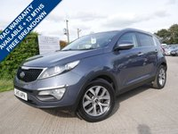 USED 2015 15 KIA SPORTAGE 1.7 CRDI 2 ISG 5d 114 BHP CRUISE CONTROL, AIR CONDITIONING, BLUETOOTH PHONE PREPARATION