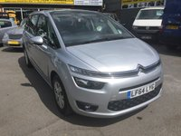 2014 CITROEN C4 GRAND PICASSO 1.6 E-HDI AIRDREAM VTR PLUS 5 DOOR 113 BHP IN SILVER WITH 7 SEATS £8499.00