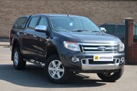USED 2014 63 FORD RANGER 2.2 TDCI LIMITED DOUBLE CAB HARDTOP CANOPY LEATHER FULL BLACK LEATHER CANOPY BLUETOOTH CRUISE CLIMATE