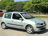 USED 2004 54 RENAULT CLIO 1.5 DYNAMIQUE DCI 3d 65 BHP SUNROOF,  ALLOYS, CD PLAYER, £30 A YEAR TAX, SUPERB MPG,  REMOTE CENTRAL LOCKING, ELECTRIC WINDOWS, PART EX TO CLEAR, CLEAN EXAMPLE
