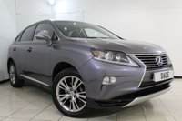USED 2013 63 LEXUS RX 3.5 450H LUXURY 5DR 295 BHP FULL SERVICE HISTORY + HEATED LEATHER SEATS + SAT NAVIGATION + REVERSE CAMERA + BLUETOOTH + CRUISE CONTROL + CLIMATE CONTROL + MULTI FUNCTION WHEEL + 19 INCH ALLOY WHEELS