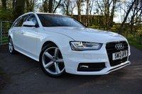 2013 AUDI A4 2.0 AVANT TDI S LINE 5d 141 BHP £14295.00