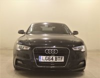USED 2014 64 AUDI A5 2.0 TDI S LINE S/S 2d AUTO 177 BHP + 1 PREV OWNER +  SAT NAV + AIR CON + AUX + BLUETOOTH