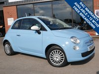 USED 2014 14 FIAT 500 1.2 COLOUR THERAPY 3d 69 BHP AIR CONDITIONING, £30 ROAD TAX, LOW RUNNING COSTS, GREAT STARTER CAR