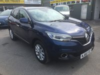 USED 2016 66 RENAULT KADJAR 1.5 DYNAMIQUE NAV DCI 5 DOOR 110 BHP IN METALLIC GREY WITH ONLY 12000 MILES APPROVED CARS ARE PLEASED TO OFFER THIS RENAULT KADJAR 1.5 DYNAMIQUE NAV DCI 5 DOOR 110 BHP IN METALLIC GREY WITH BLACK LUXURY INTERIOR IN IMMACULATE CONDITION INSIDE AND OUT WITH A RENAULT SERVICE HISTORY WITH A GREAT SPEC INCLUDING SAT NAV,2 KEYS,BLUETOOTH.C/LOCKING,ALLOYS,POWER STEERING,AIR/CON,6 SPEED GEARBOX,CRUISE CONTROL,ALARM AND MUCH MUCH MORE THIS CAR REALLY IS AS GOOD AS A NEW ON WITH SUCH LOW MILEAGE ITS SUCH A MASSIVE SAVING ON NEW PRICES.