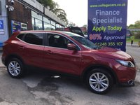 USED 2014 14 NISSAN QASHQAI 1.5 DCI ACENTA PREMIUM 5d 108 BHP, ONLY 22000 MILES ***GREAT FINANCE DEALS AVAILABLE***