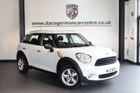 USED 2012 12 MINI COUNTRYMAN 1.6 ONE 5DR 98 BHP + FULL MINI SERVICE HISTORY + 1 OWNER FROM NEW + BLUETOOTH + DAB RADIO + PARKING SENSORS + 16 INCH ALLOY WHEELS +
