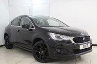 USED 2016 16 DS DS 4 1.2 PURETECH CROSSBACK S/S 5DR 130 BHP FULL SERVICE HISTORY + HALF LEATHER SEATS + SAT NAVIGATION + REVERSE CAMERA + CRUISE CONTROL + MULTI FUNCTION WHEEL + 18 INCH ALLOY WHEELS