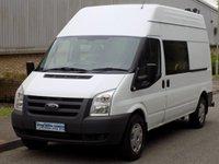 2011 FORD TRANSIT 2.4 RWD 350 LWB HIGH ROOF MESS / UTILITY 100 BHP 6 SPEED £5995.00