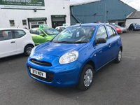 USED 2011 11 NISSAN MICRA 1.2 VISIA 5d 79 BHP Main Dealer History-1 Former Keeper-36,000 Miles- Bluetooth-Just Arrived