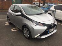 USED 2015 15 TOYOTA AYGO 1.0 VVT-I X-PLAY 5d 69 BHP BOTH CHEAP TO RUN AND EXCELLENT FUEL ECONOMY!..WITH A 5 YEAR TOYOTA WARRANTY FROM NEW! GOOD RELIABILITY , £0 ROAD TAX AND ONLY 1105 MILES FROM NEW! GOOD SPECIFICATION WITH AIR CONDITIONING ,AUXILLIARY AND USB!