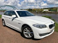 USED 2010 60 BMW 5 SERIES 2.0 520D SE TOURING 5d 181 BHP ***WHITE, BROWN LEATHER***