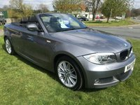2011 BMW 1 SERIES 2.0 120D M SPORT convertible 177ps 1 lady owner low miles  £9495.00