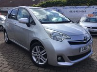 USED 2011 61 TOYOTA VERSO-S 1.3 VVT-I T SPIRIT 5d 98 BHP PRICE INCLUDES A 6 MONTH RAC WARRANTY, 1 YEARS MOT WITH 12 MONTHS FREE BREAKDOWN COVER