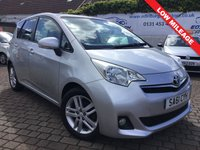 USED 2011 61 TOYOTA VERSO-S 1.3 VVT-I T SPIRIT 5d 98 BHP PLEASE CALL IF YOU CANT SEE WHAT YOU ARE AFTER . WE WILL CHECK OUR OTHER BRANCHES FOR YOU . WE HAVE OVER 100 CARS IN GROUP STOCK