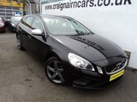 USED 2011 61 VOLVO V60 2.0 D3 R-DESIGN 5d 161 BHP Two Owners Since New Full Service History