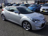 USED 2012 HYUNDAI VELOSTER 1.6 GDI SPORT 4d 138 BHP PRICE INCLUDES A 6 MONTH AA WARRANTY DEALER CARE EXTENDED GUARANTEE, 1 YEARS MOT AND A OIL & FILTERS SERVICE. 6 MONTHS FREE BREAKDOWN COVER.  4 STAMPS IN THE SERVICE BOOK.