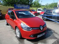 USED 2013 13 RENAULT CLIO 0.9 DYNAMIQUE MEDIANAV ENERGY TCE S/S 5d 90 BHP LOOKS ABSOLUTELY STUNNING IN METALLIC RED !!