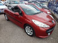 USED 2008 08 PEUGEOT 207 1.6 SPORT COUPE CABRIOLET 2d 118 BHP AIRCON, CD, ELECTRIC WINDOWS, LOW MILEAGE, GREAT VALUE