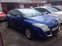 USED 2011 11 RENAULT MEGANE 1.6 DYNAMIQUE TOMTOM VVT 3d 110 BHP Great value Megane coupe, stunning example.