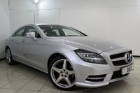 USED 2013 13 MERCEDES-BENZ CLS CLASS 2.1 CLS250 CDI BLUEEFFICIENCY AMG SPORT 4DR AUTOMATIC 204 BHP SERVICE HISTORY + LEATHER SEATS + SAT NAVIGATION + CRUISE CONTROL + MULI FUNCTION WHEEL + CLIMATE CONTROL + 19 INCH ALLOY WHEELS