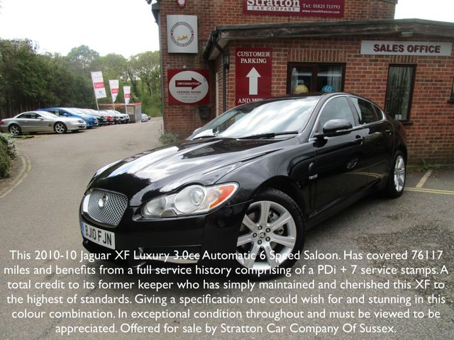 2010 10 JAGUAR XF 3.0 LUXURY V6 4d AUTO 238 BHP