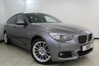 USED 2012 62 BMW 5 SERIES GRAN TURISMO 520D M SPORT 2.0 GT  5DR AUTOMATIC 181 BHP HEATED LEATHER SEATS + SAT NAVIGATION PROFESSIONAL + PANORAMIC ROOF + REVERSE CAMERA + BLUETOOTH + CRUISE CONTROL + MULTI FUNCTION WHEEL + CLIMATE CONTROL + 19 INCH ALLOY WHEELS
