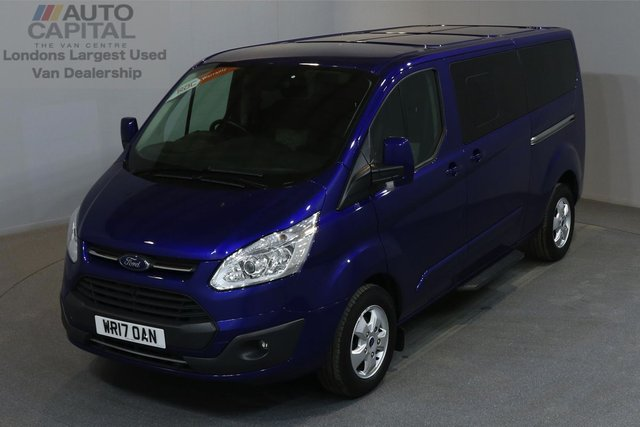2017 17 FORD TOURNEO CUSTOM 2.0 310 TITANIUM 168 BHP L2 H1  A/C E6 9 SEATER MINIBUS MANUFACTURER WARRANTY UNTIL 21/05/2020