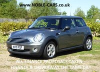 2010 MINI HATCH ONE 1.6 ONE GRAPHITE 3d 98 BHP £SOLD