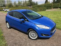 USED 2013 62 FORD FIESTA 1.0 TITANIUM 3d 100 BHP Full Ford History MOT 05/19, Recently Serviced Full Ford Service History, MOT 05/19, Recently Serviced, Truly Stunning Unmarked Example, One Lady Owner, Wireless Media Streaming, Bluetooth Handsfree, Elec Folding Mirrors On Central Locking, X2 Keys, Full Convienience Pack, Auto Lights On, Auto Wipers, Dimming Mirror, Cruise Control, Mulitfunctional Steering Wheel, Full Onboard Trip Computer, USB/Aux In/ Cd Player, Climate Aircon, Quickclear Front Windscreen, Full Carpet Mat Set, Free Road Tax, Very Clean And Tidy Example, Unmarked Exterior A